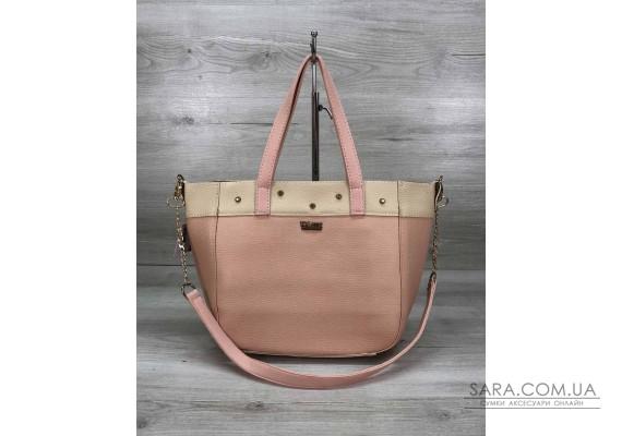 Женская сумка Дарина с шипами пудра WeLassie