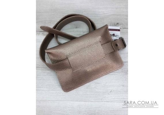 Женская сумка на пояс- клатч Арья золотого цвета WeLassie