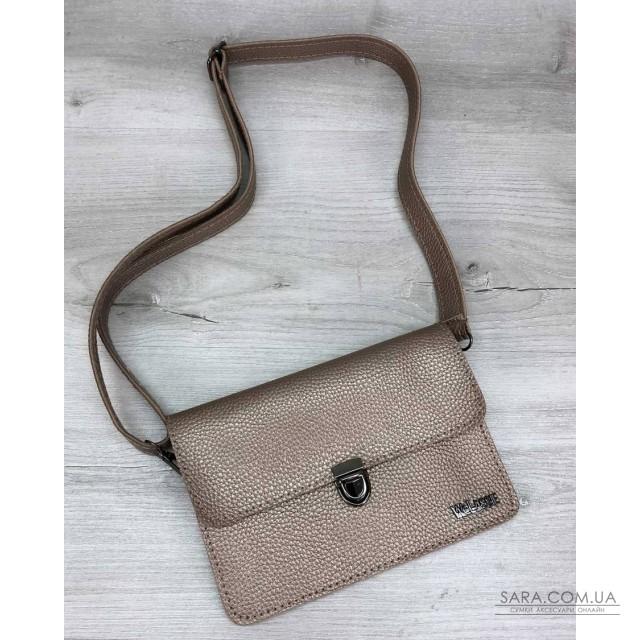 Женская сумка на пояс- клатч Арья золотого цвета WeLassie дешево