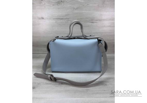 Женская сумка 2в1 Малика голубого цвета WeLassie